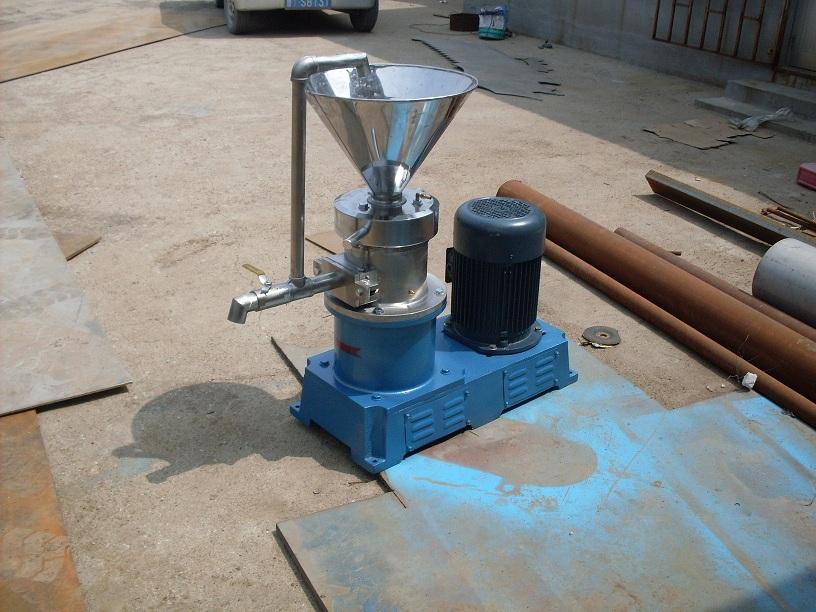 研磨机系列  胶体磨的基本原理是流体或半流体物料